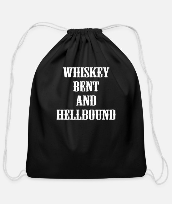 Geek Bags & Backpacks - Whiskey Bent and Hellbound - Cotton Drawstring Bag black
