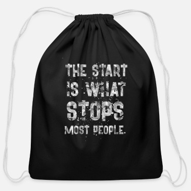 Start THE START IS - Cotton Drawstring Bag