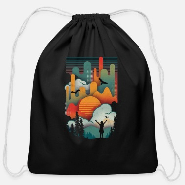 Rising Sun Sun Rise - Cotton Drawstring Bag