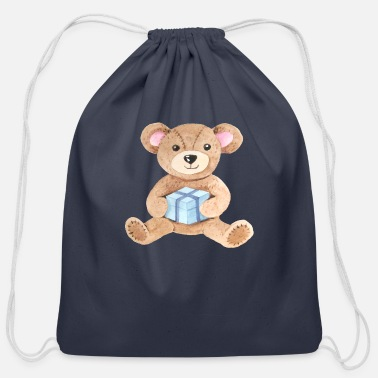 Teddy Bear Teddy Bear!!! - Cotton Drawstring Bag