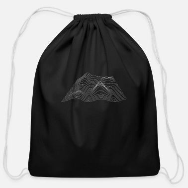 Abstract Music Abstract geometry - Cotton Drawstring Bag