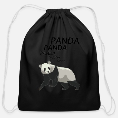 Panda Panda Panda Panda - Cotton Drawstring Bag