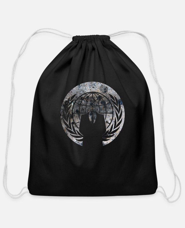 Anon Bags & Backpacks - Anonymous - Cotton Drawstring Bag black