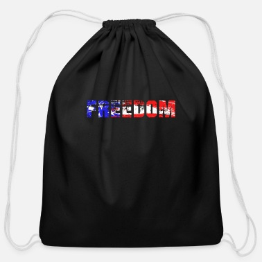 Freedom Freedom, American Freedom, Freedom is the best - Cotton Drawstring Bag