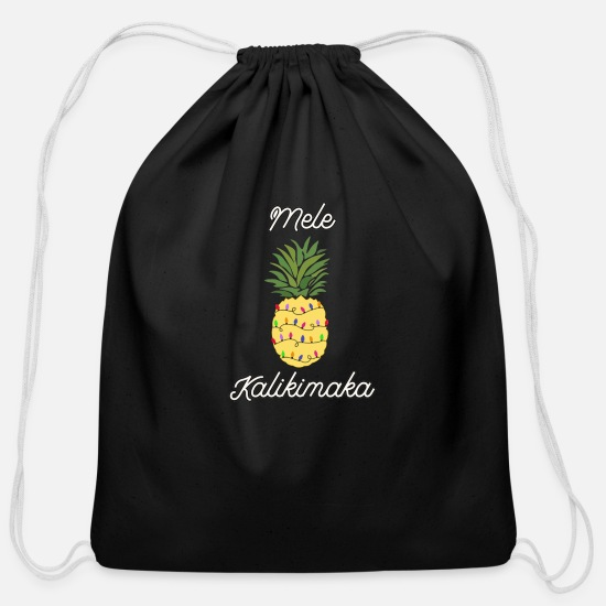 Vacation Bags & Backpacks - Mele Kalikimaka Hawaiian Christmas Vacation T Shir - Cotton Drawstring Bag black