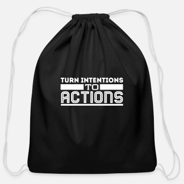 Turn Of The Year Turn intentions to actions - Cotton Drawstring Bag