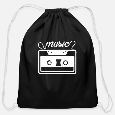 Audio Cassette Vintage Audio Cassette - Cotton Drawstring Bag