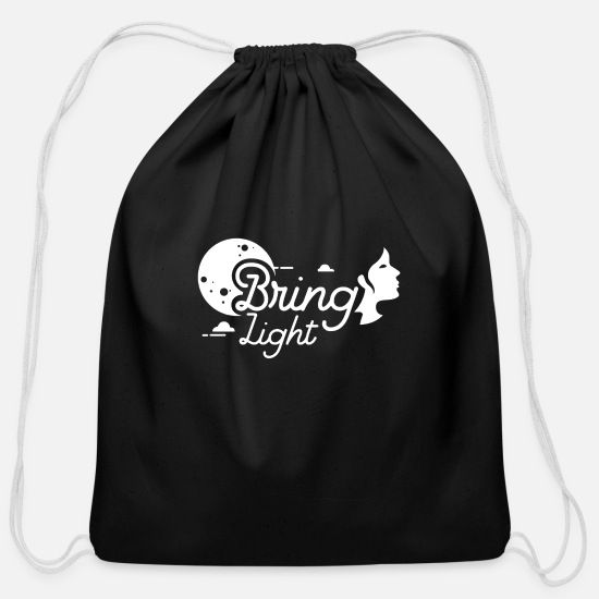 Lightning Bags & Backpacks - Bring light - Cotton Drawstring Bag black