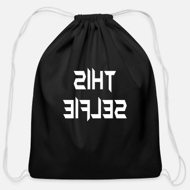 Selfie This Selfie - Cotton Drawstring Bag