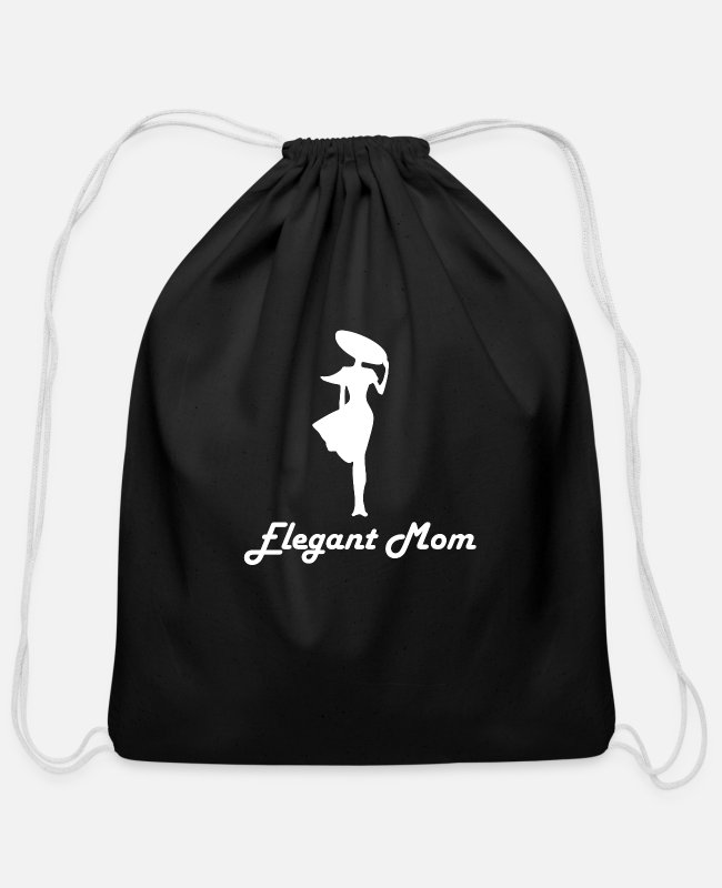 Mummy Bags & Backpacks - Mom - Cotton Drawstring Bag black