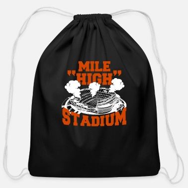 Mascot Mile High Stadium Denver Colorado American - Cotton Drawstring Bag
