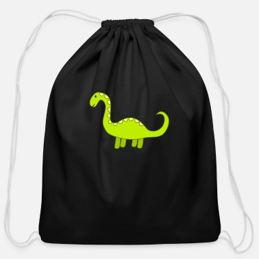 Green Dinosaur Dino Extinct Gift - Cotton Drawstring Bag