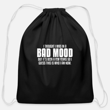 Mood BAD MOOD - Cotton Drawstring Bag