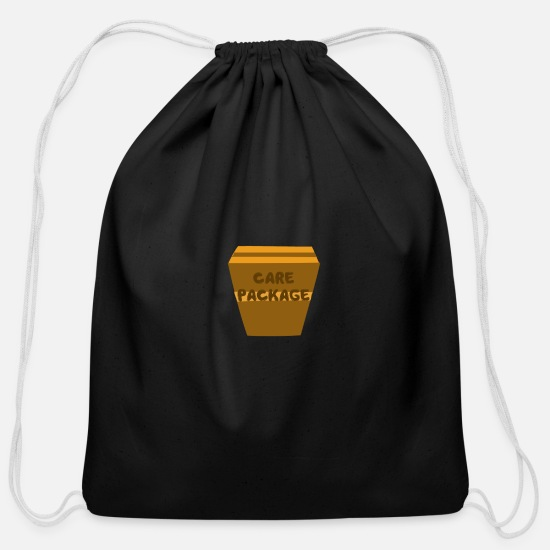 Pop Bags & Backpacks - CARE PACKAGE - Cotton Drawstring Bag black