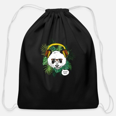 Panda Jungle Beat - Cotton Drawstring Bag