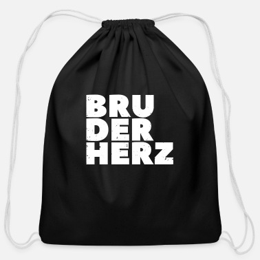 Brother Heart Brother heart saying brother family gift - Cotton Drawstring Bag