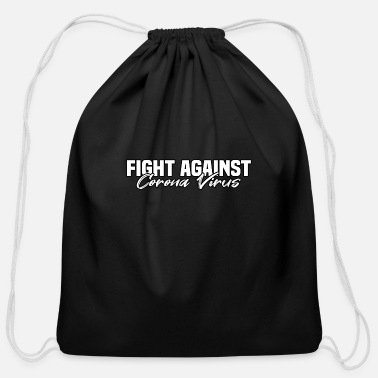 Against fight against corona virus - Cotton Drawstring Bag