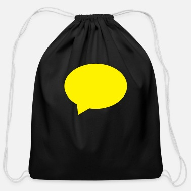 Speech Balloon balloon speech bubble speech balloon - Cotton Drawstring Bag