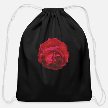 Vector red rose, canvas, roses, flowers, rose fan, mother - Cotton Drawstring Bag