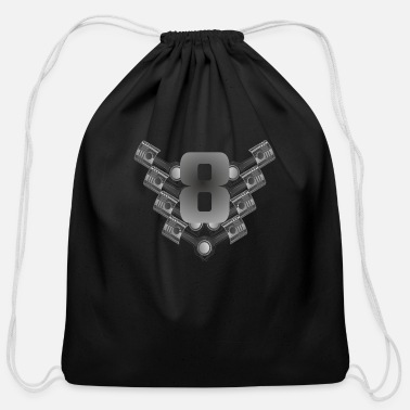 V8 V8 Muscles - Cotton Drawstring Bag