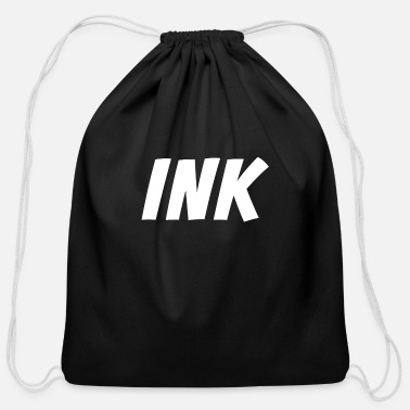 Ink Ink - Addicted to Ink - Inked Tattoo Artist - Cotton Drawstring Bag