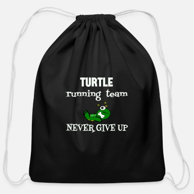Running Turtle Running Team Inspirationnal Runner t-shirt - Cotton Drawstring Bag
