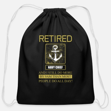Officer Navy Chief Retidred - Cotton Drawstring Bag