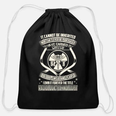 Radiologic Technologist - Blood, sweat and tears - Cotton Drawstring Bag