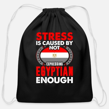 Stress Is Caused By Not Expressing Egyptian - Cotton Drawstring Bag