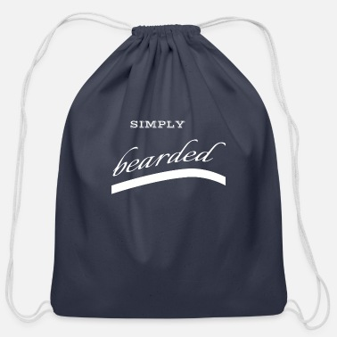 Mustache beard - simply bearded - Cotton Drawstring Bag