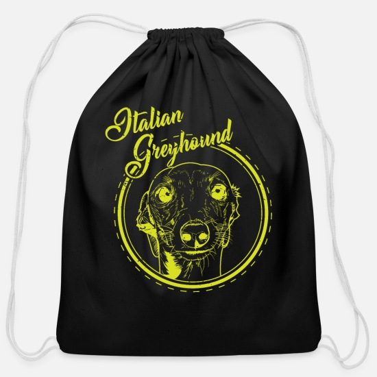 Racing Bags & Backpacks - Greyhound breeding gift - Cotton Drawstring Bag black