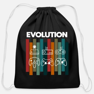 Computer Retro Evolution Gamer Nerd funny saying - Cotton Drawstring Bag