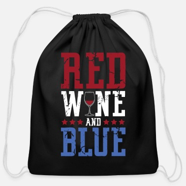 Red Wine Red wine Wine - Cotton Drawstring Bag
