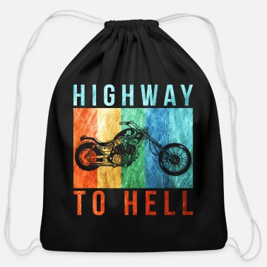 Highway To Hell Highway to hell - Cotton Drawstring Bag
