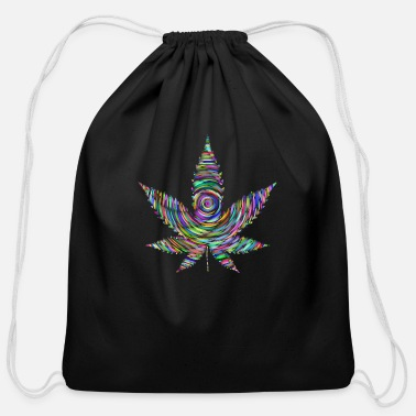 Psychedelic psychedelic design - Cotton Drawstring Bag