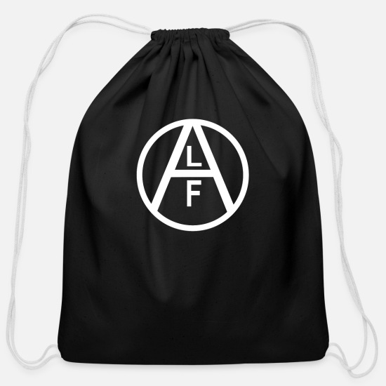 Animal Bags & Backpacks - Animal liberation front - Cotton Drawstring Bag black