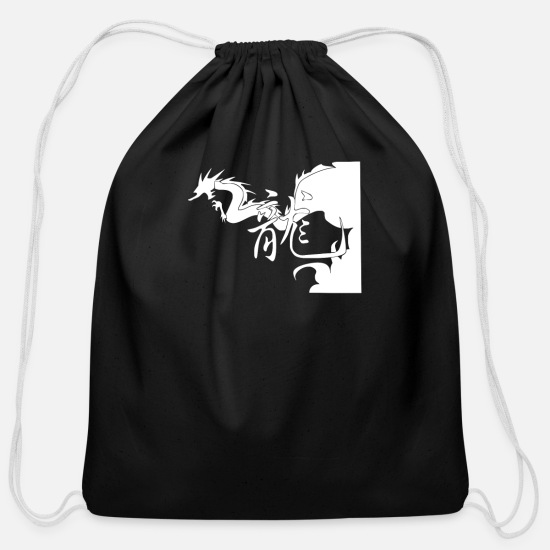 Writing Bags & Backpacks - Antontw Chinese Dragon - Cotton Drawstring Bag black