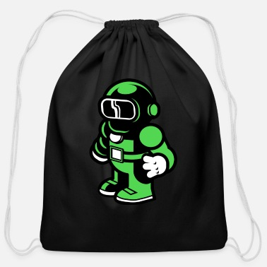 Space Astronaut - Cotton Drawstring Bag