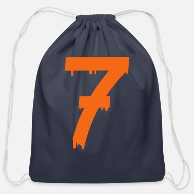 Age lucky number seven - Cotton Drawstring Bag