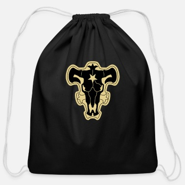 Clover Magic Knights - Black Bulls - Cotton Drawstring Bag