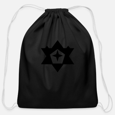 Asterisk Black Star - Cotton Drawstring Bag
