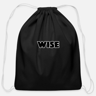Wise wise - Cotton Drawstring Bag