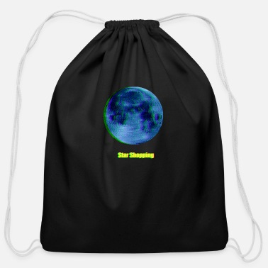 Moon moon - Cotton Drawstring Bag