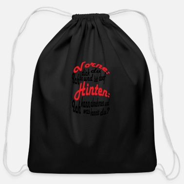 Thick thick - Cotton Drawstring Bag