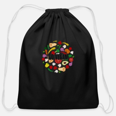 Vegan Vegan Veganism - Cotton Drawstring Bag