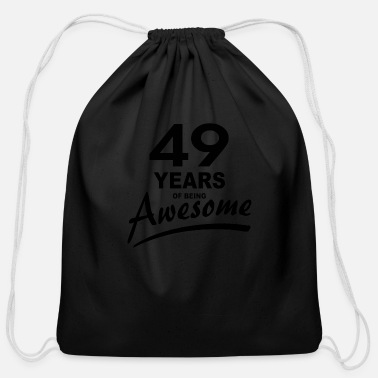 49 Years 49 Years of being AWESOME - Cotton Drawstring Bag