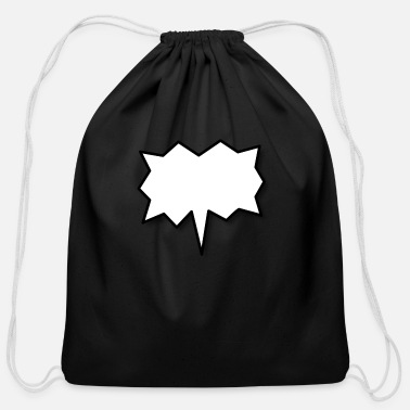 Speech Balloon Speech Balloon - Cotton Drawstring Bag
