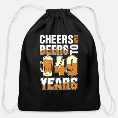 49 Years Cheers And Beers To 49 Years - Cotton Drawstring Bag