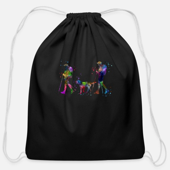 Couples Bags & Backpacks - Traveling as a couple, couple, couple traveling - Cotton Drawstring Bag black