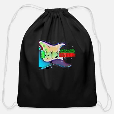 Rdj Guitar sing a Joyful noise unto the lord - Cotton Drawstring Bag